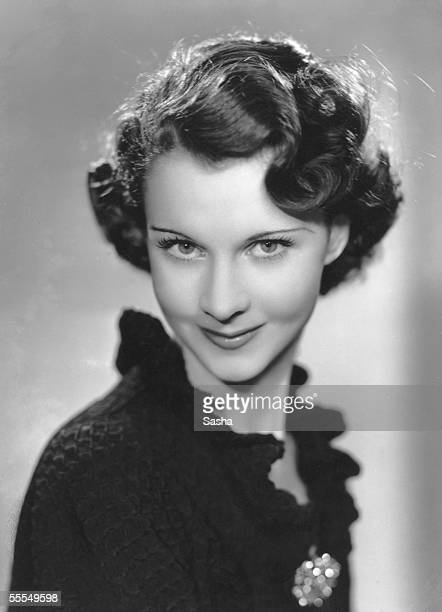 English actress Vivien Leigh flirts with the camera 1935
