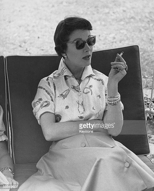 English actress Vivien Leigh spends time at the home of Duke Luigi Visconti di Modrone and Duchess Laura Adani in northern Italy 25th August 1957