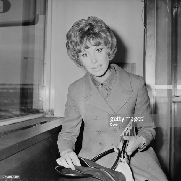 English actress Wendy Craig at Heathrow Airport London UK 25th September 1967