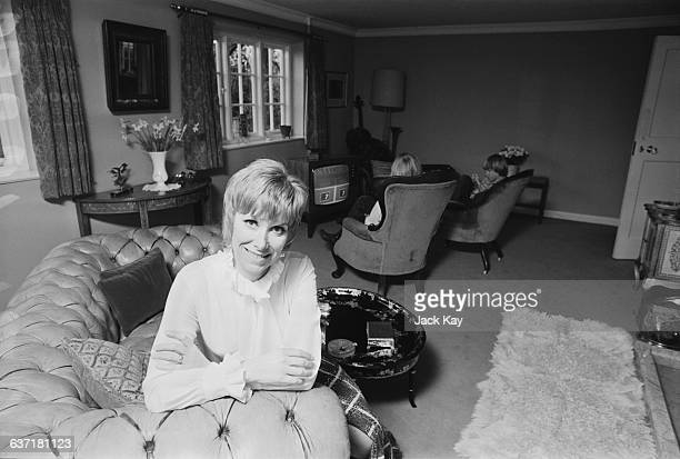 English actress Wendy Craig at home with her sons Alaster and Ross UK 29th April 1971