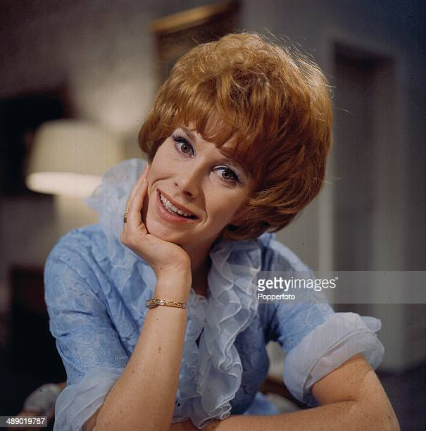 English actress Wendy Craig posed on the set of the television drama 'the Floating Population' in 1967