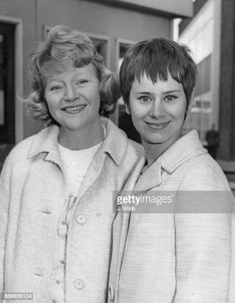 English actresses Dora Bryan and Rita Tushingham leave London Airport for the Cannes Film Festival where they are presenting the film 'A Taste of...