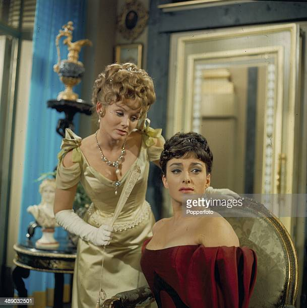 1967 English actresses Jennie Linden and Barbara Jefford pictured in a scene from the 1967 television production of the play 'Lady Windermere's Fan'