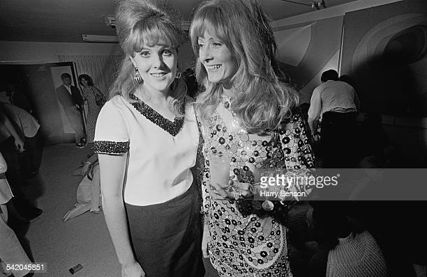 English actresses Lynn Redgrave and her sister Vanessa Redgrave enjoying themselves at a party 1967