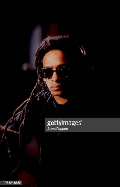 English Alternative musician and filmmaker Don Letts, of the group Big Audio Dynamite, films the 'Medicine Show' music video, 6/8/1986.