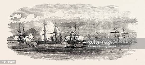 English And French Steamers In The Harbour Of Gonaive Haiti