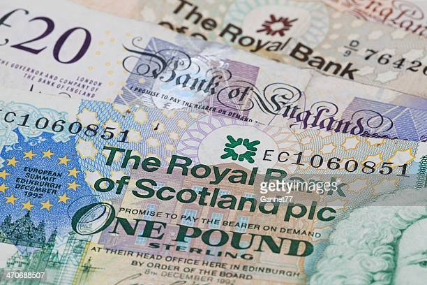 English and Scottish Currency Background