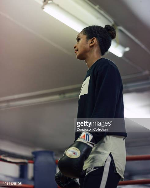 English and Somali boxer Ramla Ali trains at Peacocks Boxing gym on March 3 2019 in London England