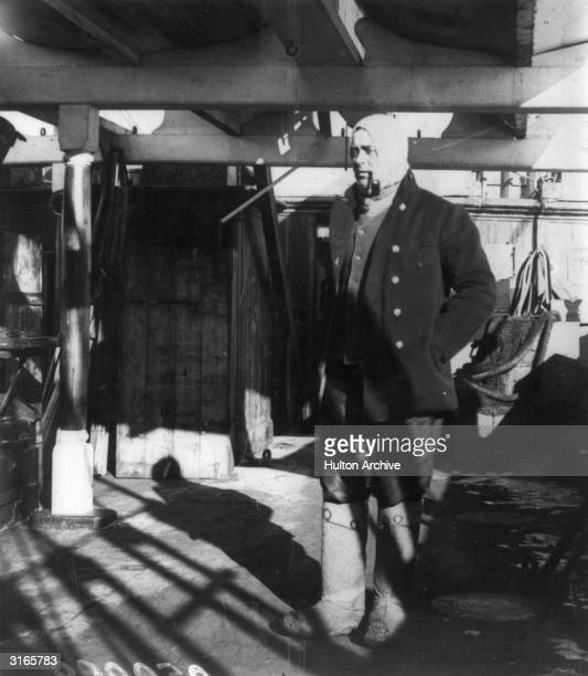 English Antarctic explorer Captain Robert Falcon Scott who perished with his team in the South Pole