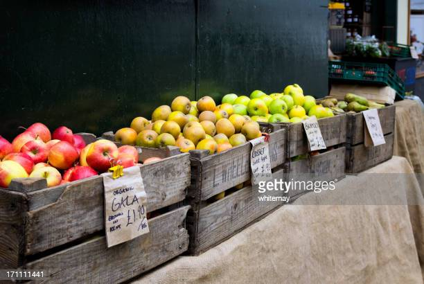 english apples, grown in kent - royal gala apple stock photos and pictures