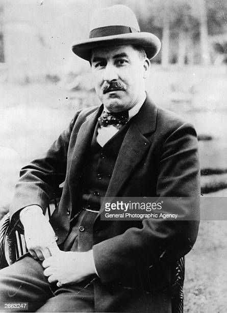 English archaeologist Howard Carter whose discoveries include the tomb of Tutankhamen