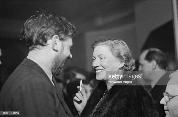 English art and radio critic Frederick Laws and American photographer Lee Miller attend a one-night performance of Pablo Picasso's play 'Desire...