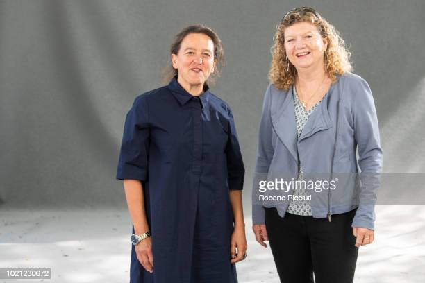 English artist and Festival guest selector Tania Kovats and film director Jo Ruxton attend a photocall during the annual Edinburgh International Book...