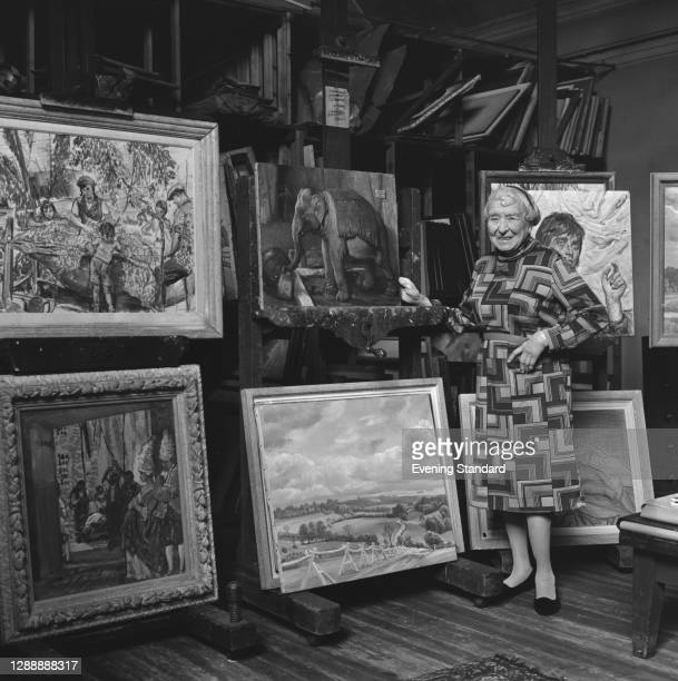 English artist Dame Laura Knight , UK, 4th August 1967.