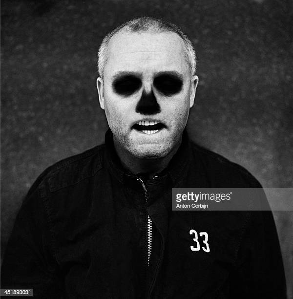 English artist Damien Hirst is photographed for Self Assignment on 2011 in Stroud, England.