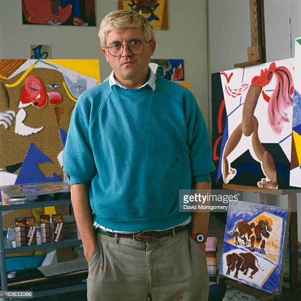 English artist David Hockney 1988