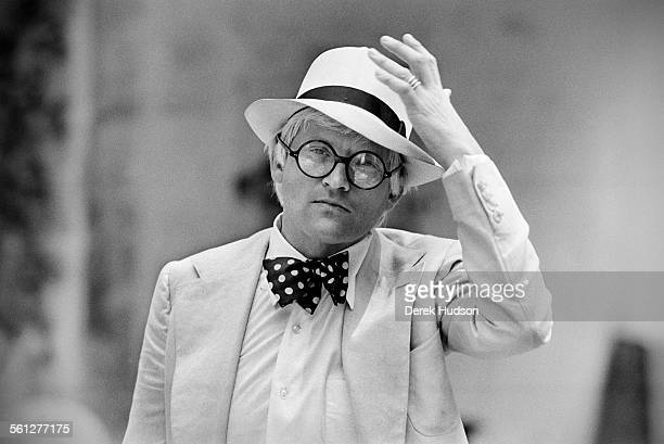 English artist David Hockney photographed in Paris in 1979