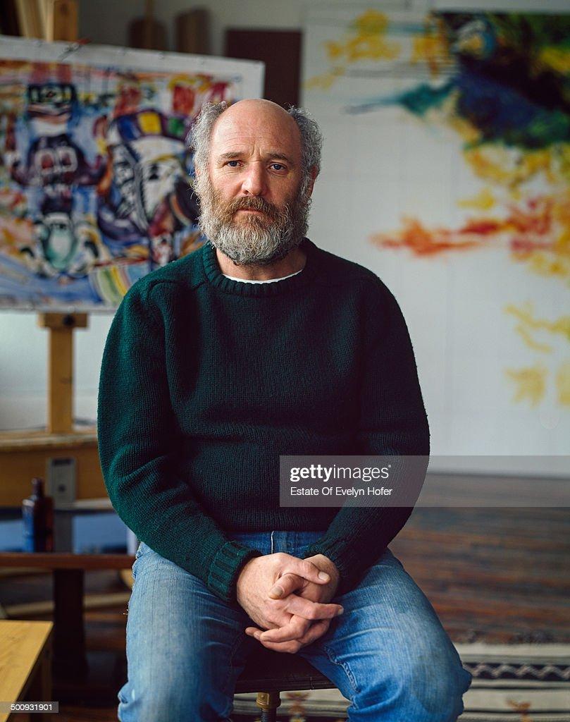 English artist Malcolm Morley, 1983.