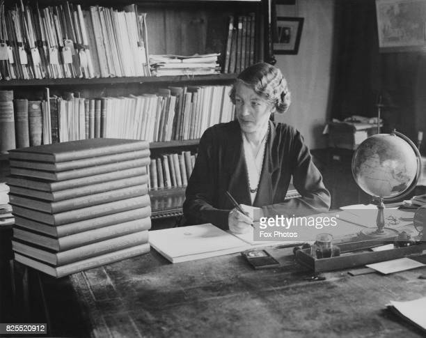 English astronomer Ethel Bellamy at the Oxford University Observatory, 5th February 1934. She is working on an astrographic work for the Vatican.