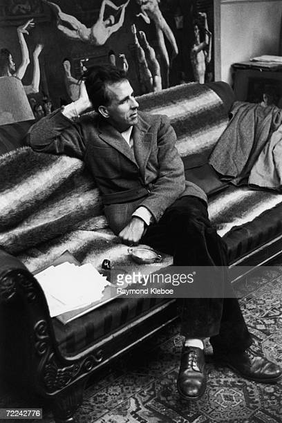 English author and artist Mervyn Peake in London 21st December 1946 Original Publication Picture Post 4276 An Artist Makes A Living pub 1946