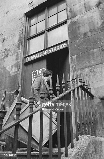 English author and visual artist Mervyn Peake entering Trafalgar Studios in London December 1946 Original publication Picture Post 4276 An Artist...