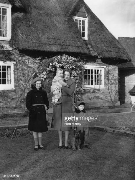 English author Barbara Cartland the wife of Hugh McCorquodale moves into River Cottage in Great Barford Bedfordshire with her daughter Raine and sons...