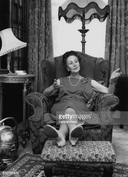 English author Eleanor Hibbert who writes under the pen name Victoria Holt amongst others at her home circa 1965