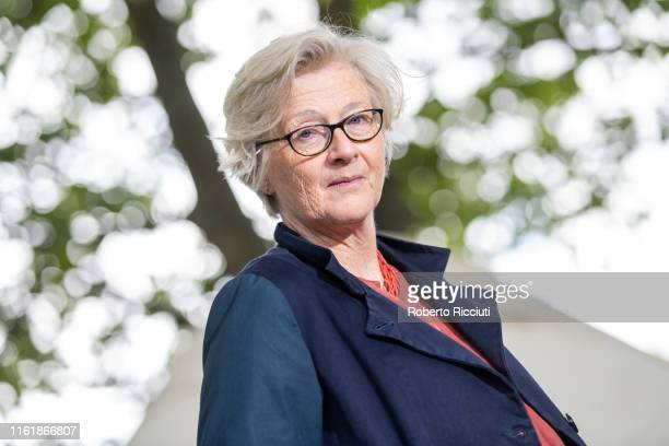 English author Georgina Harding attends a photocall during the Edinburgh International Book Festival 2019 on August 16, 2019 in Edinburgh, Scotland.