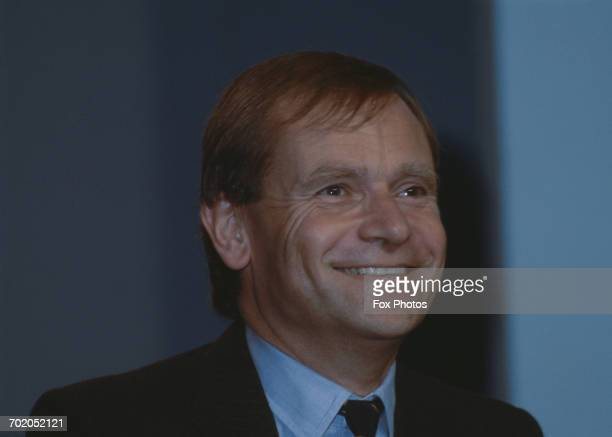 English author Jeffrey Archer, the deputy chairman of the Conservative Party, at the Conservative Party Conference in Bournemouth, UK, October 1986.