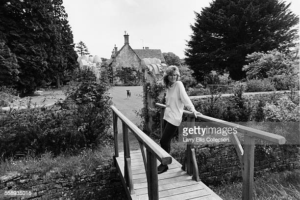 English author Jilly Cooper at her home in Gloucestershire UK 1988