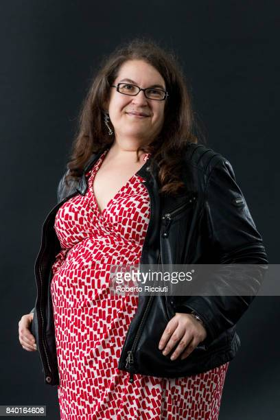 English author novelist and game designer Naomi Alderman attends a photocall during the annual Edinburgh International Book Festival at Charlotte...