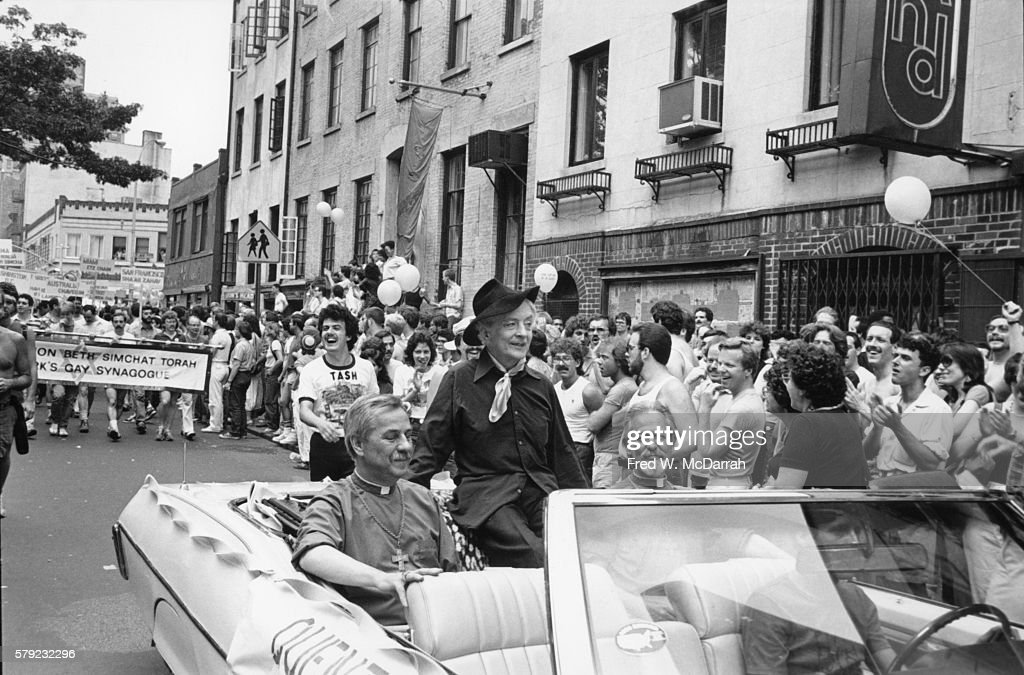 Quentin Crisp On Gay Pride Day : News Photo