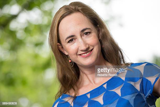 English author Sophie Kinsella attends a photocall at Edinburgh International Book Festival at Charlotte Square Gardens on August 14 2016 in...