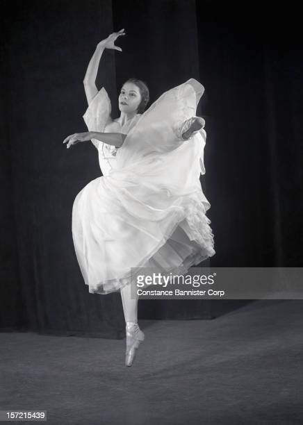English ballerina Alicia Markova of the Ballets Russes in costume for the ballet 'Aurora's Wedding' by Sergei Diaghilev, New York City, 1946.