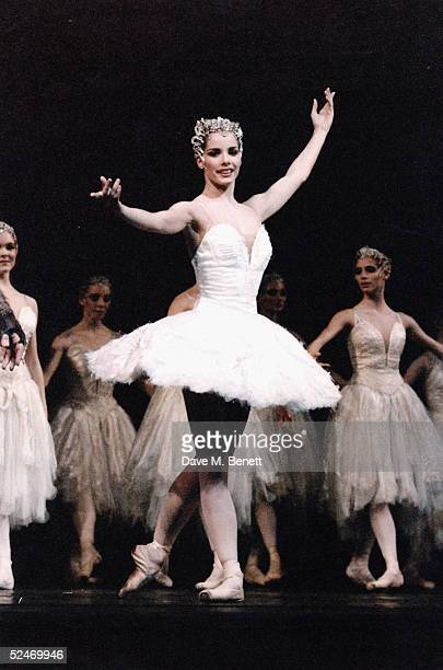 English ballerina Darcey Bussell as Odette/Odile in a Royal Ballet production of Tchaikovsky's 'Swan Lake' at the Royal Opera House Covent Garden...