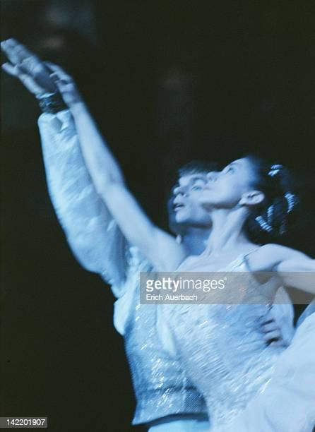 English ballerina Margot Fonteyn and Russian dancer Rudolf Nureyev in an Australian Ballet production of Marius Petipa and Alexander Glazunov's...