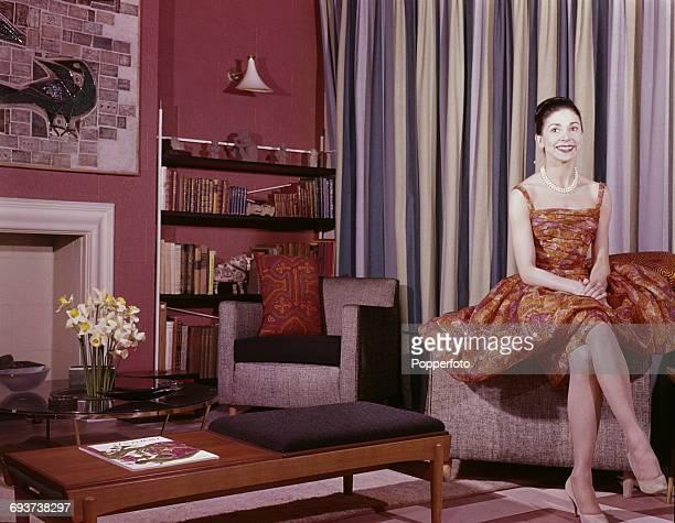 English ballerina Margot Fonteyn pictured at home in London in London in 1961