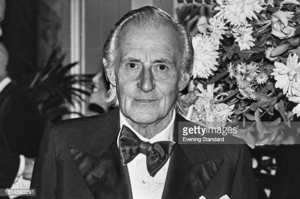 English ballet dancer and choreographer Anton Dolin attends a dinner in honour of British dance critic Arnold Haskell at the Ritz Hotel in London,...