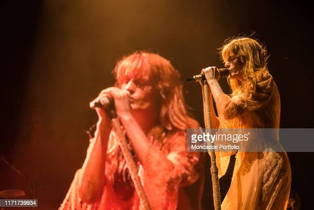 English band Florence and the Machine performs live on stage in Milan. Milan , August 30th, 2019
