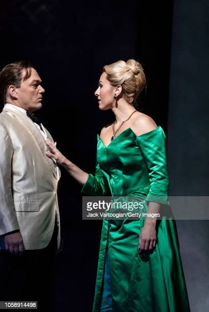 English baritone Christopher Maltman and American mezzosoprano Isabel Leonard perform at the final dress rehearsal prior to the US premiere of the...