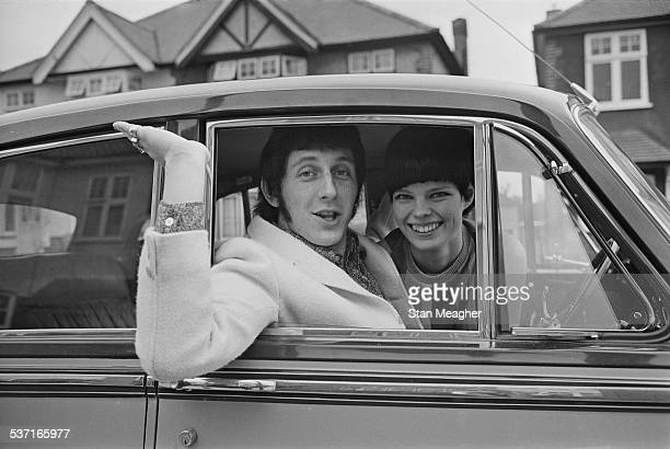 English bass guitarist for 'The Who' John Entwistle and Alison Wise 17th March 1967
