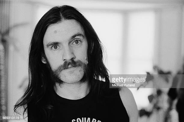 English bassist and singer Ian 'Lemmy' Kilmister of heavy rock group Motorhead, 1982.