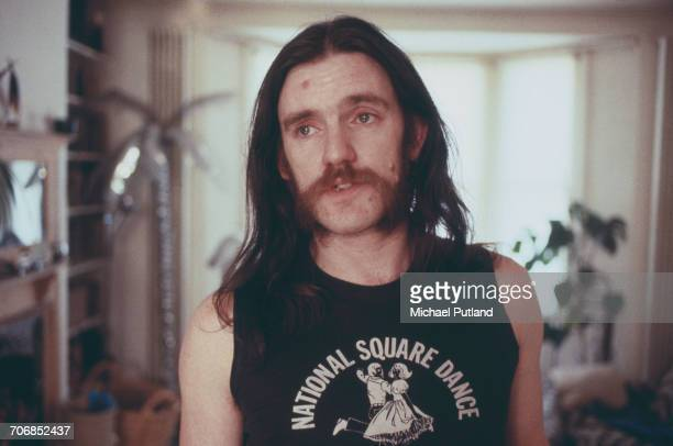 English bassist and singer Ian 'Lemmy' Kilmister of heavy rock group Motorhead posed in London in 1982.