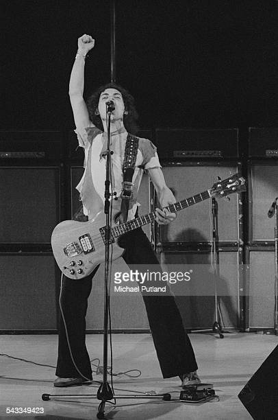 English bassist and songwriter Andy Fraser performing with the Andy Fraser Band 17th March 1975 Fraser is a former member of rock group Free