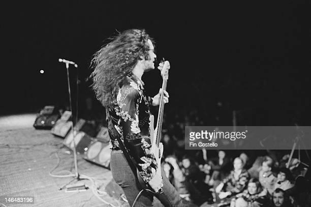 English bassist Glenn Hughes performing with Deep Purple Australia February 1975