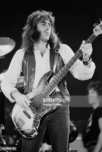English bassist Pete Sears performing with American rock group Jefferson Starship New York USA September 1978