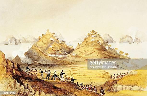 English battery 1840 First Opium War China 19th century