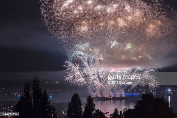 English Bay, Vancouver, August 2nd, 2017: Celebration of Light - Firework