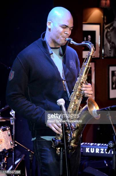 English born American saxophone player Wayne Escoffery performs live on stage at Ronnie Scott's Jazz Club in Soho London on 13th January 2014