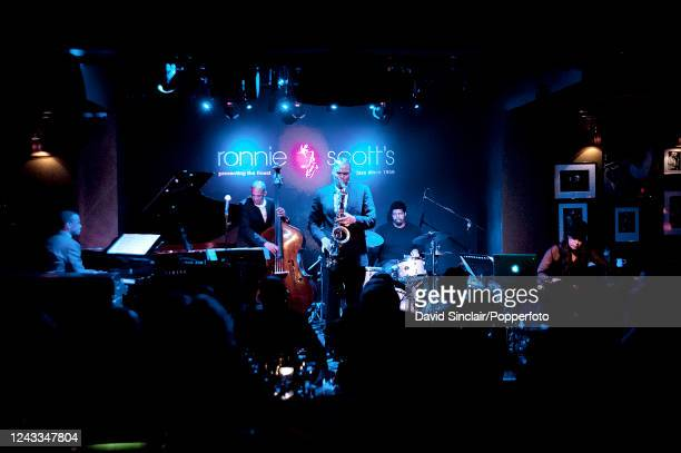 English born American saxophone player Wayne Escoffery performs live on stage with his quintet at Ronnie Scott's Jazz Club in Soho London on 13th...